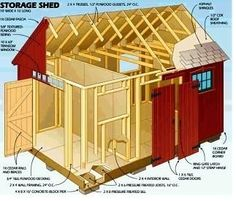 Building a shed nz how to build a shed on existing concrete,princeton shed assembly manual wood storage shed design plans,shed interior plans wood shed plans Storage Building Kits, Diy Storage Shed Plans, Wood Shed Plans, Free Shed Plans, Shed Building Plans, Shed Plans 12x16, Building Systems, Storage Sheds, Build A Shed Kit