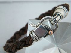 Men's bracelet Para los que reclamaban para hombres, cuero y plata a 40 soles