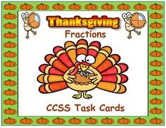 These Thanksgiving task cards are adorable! They can be used as typical task cards but there are also directions on how to use them in four different, unique ways including cooperative learning and write the room.