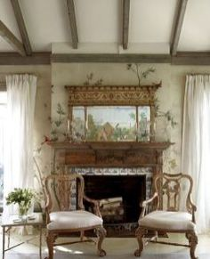 Stunning french country living room decor ideas (63)