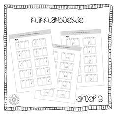 Kleuterjuf in een kleuterklas: GROEP 3 | Werkbladen klikklakboekje Veilig Leren Lezen