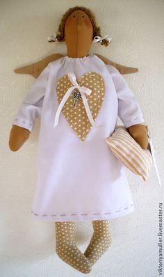 Куклы Тильды ручной работы. Ярмарка Мастеров - ручная работа Ангел сладких снов в горошек. Handmade.