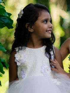 This enchanting dress features layers of lace and flourishing flower applique. The tulle creates a tiered volume skirt embodying a fairy tale charm - perfect for flower girls, christenings or any special event. Flower Girls, Flower Girl Dresses, Flower Applique, Special Occasion Dresses, Christening, Special Events, Little Girls, Party Dress, Tulle