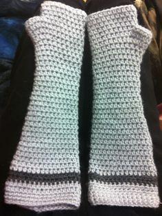 Elbow length crochet arm warmers :)
