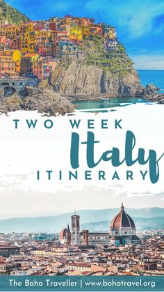 Two Week Italy Itinerary - The Best of Italy - The Boho Traveller - Two weeks in Italy is the perfect amount of time to get just a little taste of this beautiful count - Italy Travel Tips, Europe Travel Guide, Travel Guides, Budget Travel, Cool Places To Visit, Places To Travel, Italy Destinations, Honeymoon Destinations, Best Of Italy