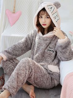 Milanoo new arrivals 2019 - Milanoo.com Women Sleeve, Surprise Gifts, Flannel, Pajamas, Lingerie, Jewels, Grey, Long Sleeve, Fashion