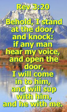 Open your heart and let Jesus Come in. God will remove all your sorow and sin.