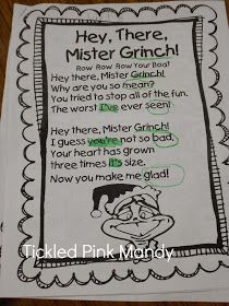 """One day during that last week of school before break, our class had """"Grinch Day"""". The kids tried to remember to wear . Grinch Christmas Party, Grinch Who Stole Christmas, Grinch Party, Preschool Christmas, Holiday Fun, Christmas Ideas, Christmas Writing, Christmas Girls, Christmas Foods"""