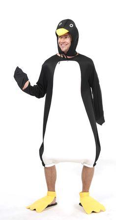 Disfraz humorístico de pingüino para adulto. Disponible en www.vegaoo.es