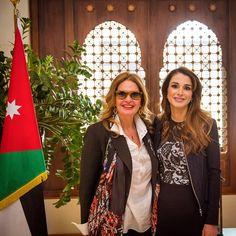 March 18, 2015,♔♛Queen Rania of Jordan♔♛... with YOUSRA
