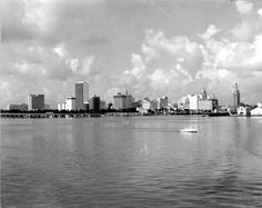 Miami skyline as seen from the water - Miami, Florida Old Florida, Miami Florida, South Florida, Miami Beach, Miami Images, Miami Photos, Miami Skyline, New York Skyline, Trick Daddy
