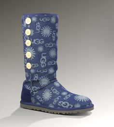 UGG Lo Pro Denim Jacquard Women's Dark Blue Boots