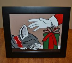 A personal favorite from my Etsy shop https://www.etsy.com/listing/482392786/santas-cat-gift