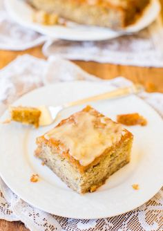 Browned Butter Glaze Banana Cake - by @averie