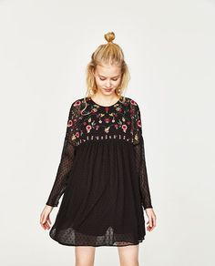 Image 4 of PLUMETIS EMBROIDERED DRESS from Zara