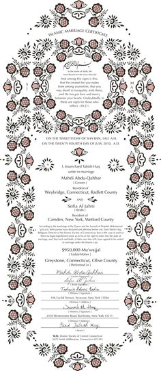 Certificate design by Viola Wang, via Behance Paper Matters - sample marriage certificate