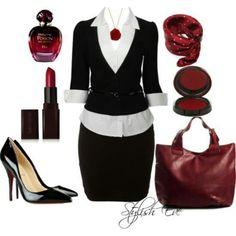 #black Love the combination, awesome business attire. #workattire #personalbrand www.cynthiawhiteandassociates.com