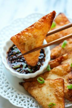 This crisp, fried wonton is loaded with cream cheese and crab goodness, and it's an absolute party favorite!