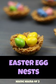 No bake desserts are some of my favorites because you literally can make them and enjoy them without waiting. Nests are something that I remember from when I was a child, and these are so cute for Easter with the filling as eggs. Sweets are something that my kids love but we try to keep them sensible. This recipe uses sweet ingredients but it's not overloaded with sugar.