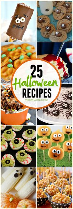 Halloween treats are so much fun! 25 Halloween Treats and Dessert Recipes. Perfect for the Halloween party at school!