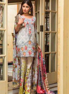 Qalamkar Luxury Festive Eid Lawn Summer 2017 - Fashionvilas.com