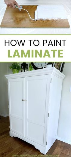 furniture restoration Learn how to paint laminate with this step-by-step video tutorial! These painting tips and tricks will help you paint laminate furniture quickly and easily! Diy Furniture Projects, Repurposed Furniture, New Furniture, Furniture Makeover, Garden Furniture, Barbie Furniture, Furniture Design, Bedroom Furniture, Rustic Furniture
