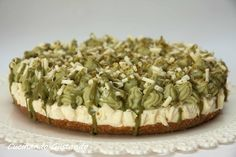 Pistachio white chocolate cheesecake