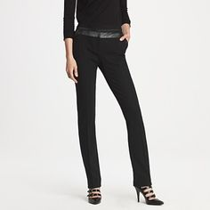 just the right amount of leather-pants - jcrew