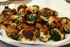 Baked spinach meatballs-- gonna use extra lean ground beef, but the basic recipe sounds great for a big batch!
