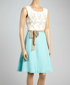 Take a look at this Joy Mark Plein Air Floral Color Block Dress on zulily today!