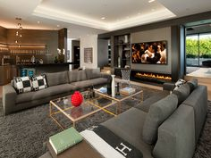 Turn up your decor with these mesmerizing living room designs! Your modern home decor will never be the same. House Design, Luxury Living Room, Home Living Room, Room Design, Interior, Luxury Living Room Inspiration, Interior Design, Living Room Design Modern, Living Room Tv