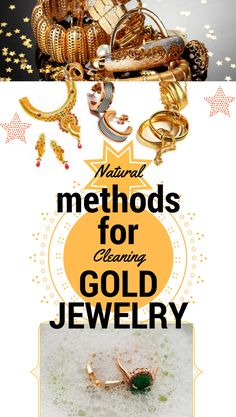 Natural Methods for cleaning gold jewelry