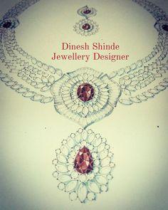 Jewelry Sketch, Jewellery Sketches, Diamond Necklaces, Diamond Jewellery, Jewelry Illustration, Fashion Rings, Sketching, Diamond Jewelry, Sketch