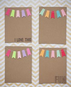 Cute Pennant Garland Journal cards for #project Life: From http://patmiaou.canalblog.com/archives/2012/06/17/24518279.html