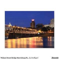 Walnut Street Bridge Harrisburg Pennsylvania Photo Print
