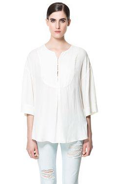 Image 1 of LOOSE KAFTAN TOP from Zara