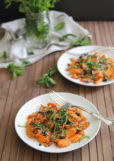 Gina's Coconut Roasted Carrot Salad - Healthy Green Kitchen