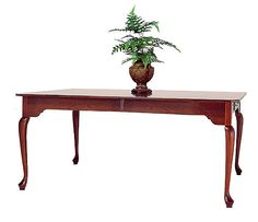Cherry Clipped Corner Dining Table With Drawers On Both Ends By Colonial  Furniture (570)