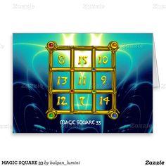 MAGIC SQUARE 33 GREETING CARD