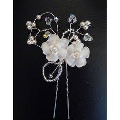 Blütengesteck Haarschmuck an Nadel zur Hochzeit