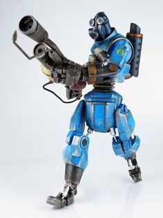 Team Fortress 2 figurine Blue Robot Pyro threeA Toys