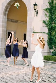 Must Take Wedding Photos With Your Bridesmaids ❤ See more: http://www.weddingforward.com/must-take-wedding-photos-with-bridesmaids/ #weddingforward #bride #bridal #wedding