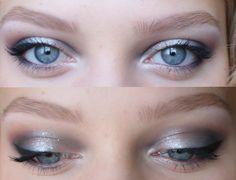 whitish silver makeup