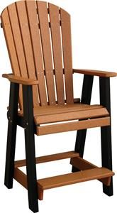Amish Poly Wood Balcony Pub Chair