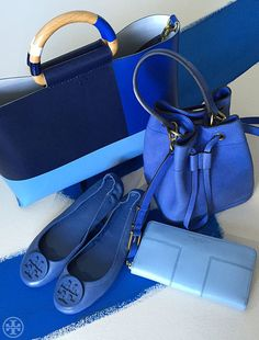 Into the Blue: We're crushing on the color - in totes, bucket bags and, of course, ballet flats