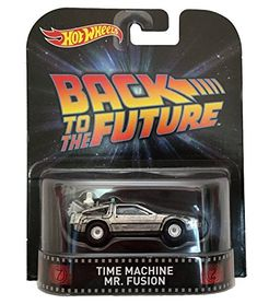 Hot Wheels 1:64 RETRO ENTERTAINMENT TIME MACHINE - MR. FUSION SILVER Diecast Car @ niftywarehouse.com #NiftyWarehouse #BackToTheFuture #Movie #Film #Movies #Gifts