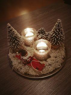 home made by me! #winterwonderland #byme #santa #santaisinahurry #diy #christmasdecorationdiy