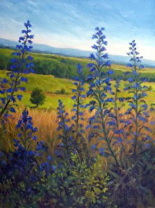 Battlefield Blues by Claire Beadon Carnell Oil ~ 24 x 18