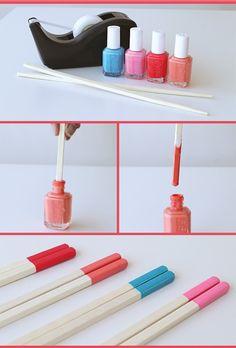 15 Formas diferentes para usar tu esmalte de uñas que nunca se te hubieran ocurrido