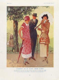 André Pécoud 1924 Fashion as it Flies From Paris